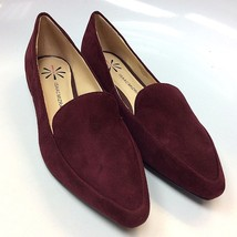 Isaac Mizrahi Live! Suede Mulberry 'Maggie' Loafers w/ Heel Hardware Detail - 6W - £24.48 GBP