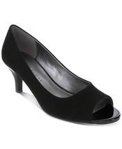 Karen Scott Womens Mory Peep Toe Classic Pumps, Black Micro, Size 8.0 - $21.49