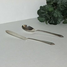 STARLIGHT SILVERPLATE BUTTER KNIFE SUGAR SPOON 1950 ROGERS INTERNATIONAL... - $12.99