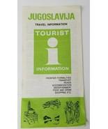 Jugoslavija Travel Brochure Guide The 14th International Summer Games Yu... - $12.82
