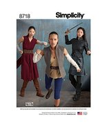 Simplicity 8718 Women's Fantasy Warrior Costume Sewing, Pattern Sizes 14-22 - $5.44