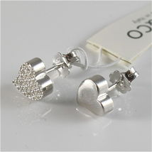 Silver Earrings 925 Jack&co with Heart Love with Zircon Cubic JCE0454 image 4