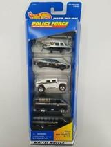 Hot Wheels Police Force 5 Car Gift Pack Mattel Wheels #17461 Vintage 1996 - $15.85