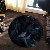 3D Black Feather 22 Non Slip Rug Mat Room Mat Round Quality Elegant Carpet AU - $65.06+