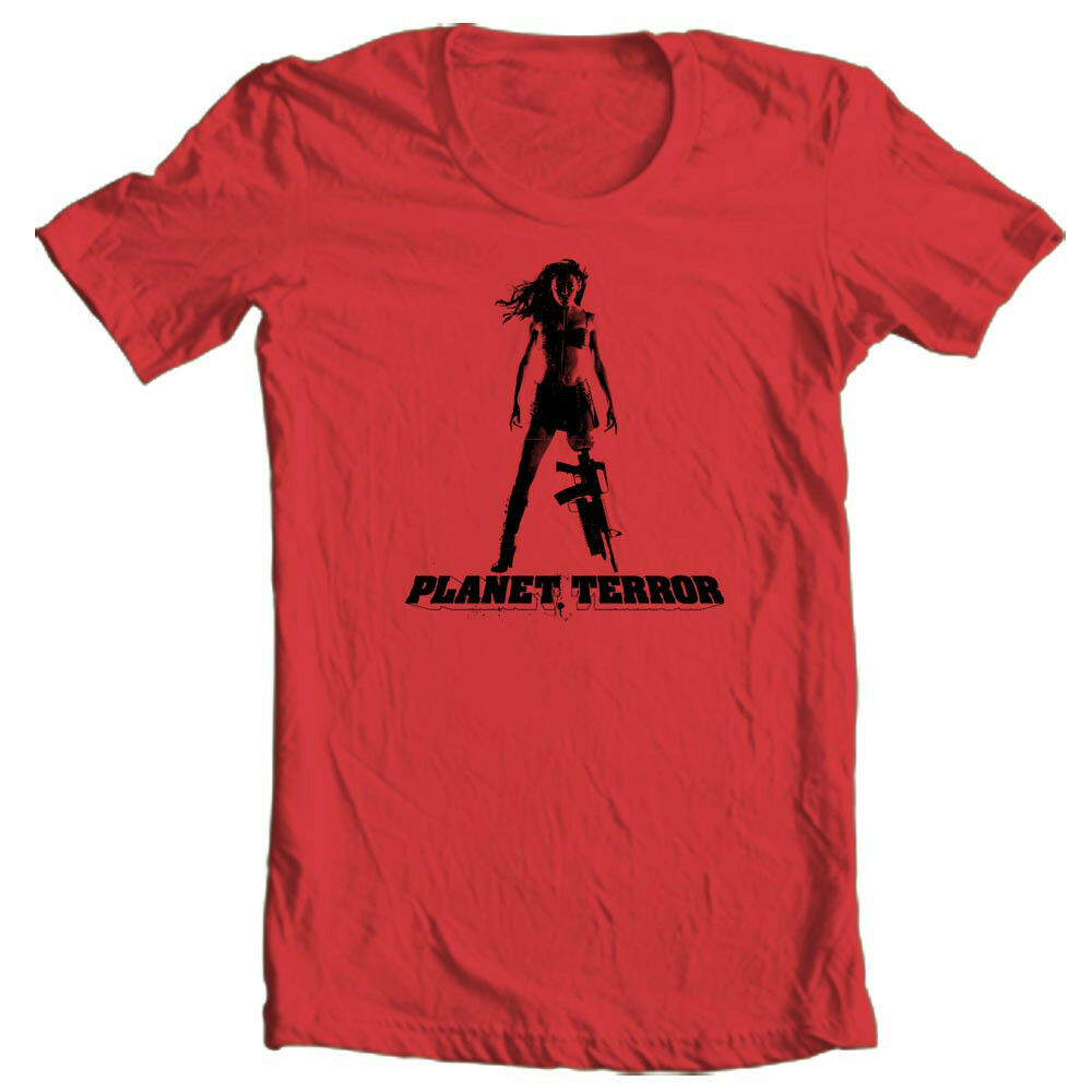 Planet Terror T-shirt grindhouse movie retro 100% cotton graphic tee