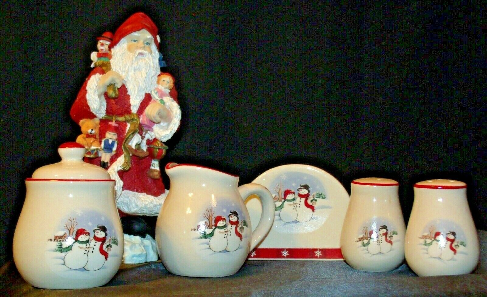 anta and 5 Piece Winter Wishes Table Set AA19-CD0052 Vintage