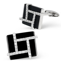 9K White Gold with real Diamonds Cufflinks boxed all cuff links supplied boxed - $2,400.00