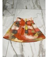 Abigail Girls Coral Grey Knee Length Circle Pleated Skirt Size 5 - $7.57