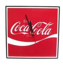 "Coca-Cola Square 12"" Clock Enjoy Coca-Cola Script Logo - BRAND NEW - $24.26"