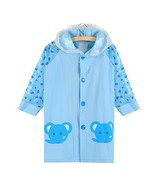 Blue Elephant Cute Baby Rain Jacket Infant Raincoat Toddler Rain Wear M #01 - $29.47