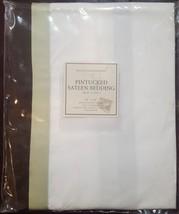 "NWT  Restoration Hardware ""Pintucked Sateen"" Celery King Pillow Sham  - $25.69"