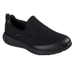Skechers shoes Black Men Memory Foam Comfort Slip On Mesh Walking Sneake... - $49.99