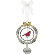 """Season's Greetings Christmas Cardinal 3D 4 3/8"""" Christmas Ornament - $12.95"""