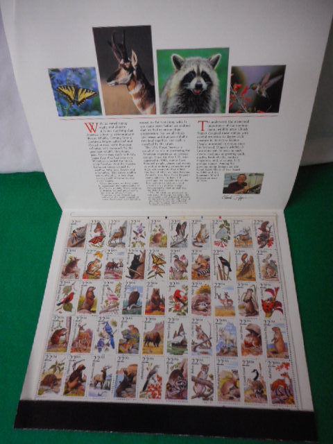 1987 American Wildlife Mint Stamp Sheet NH VF Original Folder