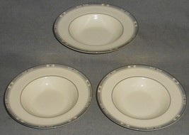 Set (3) Royal Doulton MELISSA PATTERN Rimmed Soup Bowls BONE CHINA England - $150.47