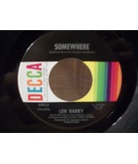 SOMEWHERE & IT'S A CRYING SHAME by LEN BARRY 45rpm NEAR MINT DECCA RECORD - $3.00