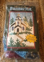 Winter Church Beaded Banner Kit NEW #5285 The Beadery Craft Products - $22.28