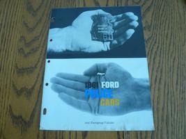 1961 Ford Police Cars & Emergency Vehicles Sales Brochure - Vintage - $24.12