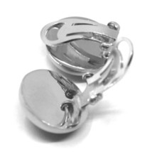 925 STERLING SILVER EARRINGS, 16mm HALF BALL, CLIPS CLOSURE, SATIN FINISH image 2