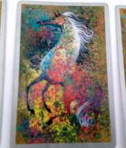Set of 6 Abstract Art Horse Playing Cards for crafting collage repurpose upcycle image 3