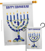 Hanukkah Menorah - Impressions Decorative Flags Set S114173-BO - $57.97