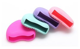 Heart Shaped Makeup Brush Cleaner Finger Glove Silicone, 2 or 4 packs image 3