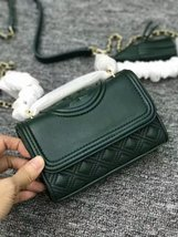 NWT Tory Burch Fleming Micro Shoulder Bag (Green) - $221.00