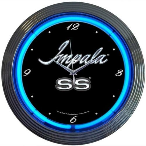 "Primary image for Impala Neon Clock 15""x15"""
