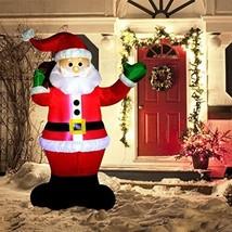 6 Feet LED Inflatable Santa Claus Christmas Decorations Xmas Outdoor Yar... - $69.92