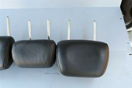 09-14 Nissan Murano Rear Back Black Leather Headrests Headrest Set of 3 image 5