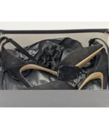 Camoscio Nero - Women's Genuine Black Leather Heels. - $79.48