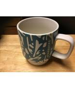 STARBUCKS Mug Aqua And Ivory 2016 12 oz Coffee Tea Cup - $19.75