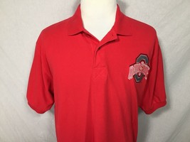 Ohio State Buckeyes Champion Adult Large Red Polo Shirt Cotton Logo Vint... - $24.74