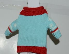 DMM Uncle Bobs XSweat Ugly Knitted Bottle Sweater Light Blue With Snowman image 3
