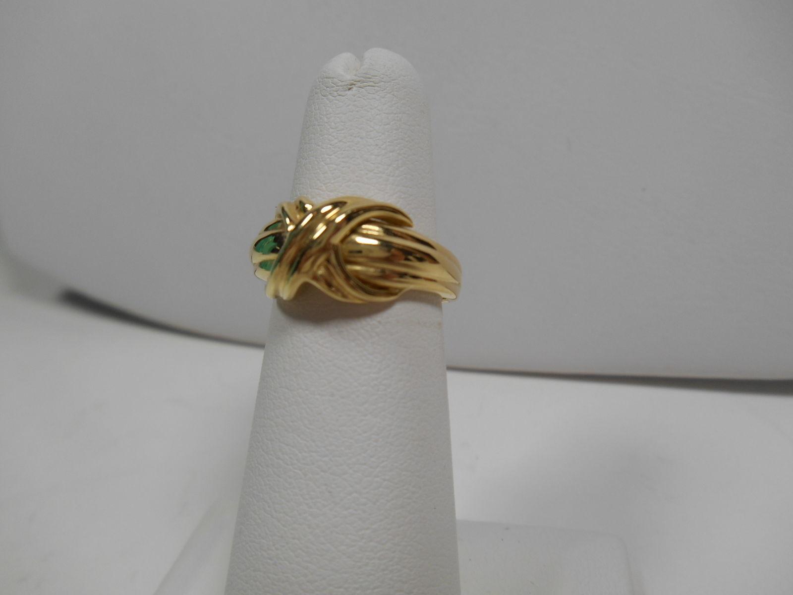 Tiffany & Co.18K Gold Signature X Kiss Cross Rare Wide Band Ring Sz 7.5 EUC