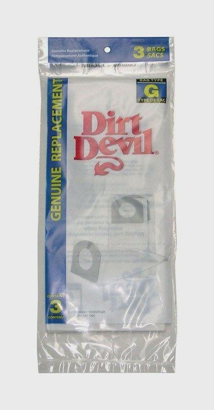 New! 3pk DIRT DEVIL Royal Hand Held Vac Vacuum Cleaner Bags Style G 3-010347 NIP image 2