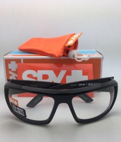 a3f8060b1beb New SPY OPTIC Sunglasses BOUNTY Shiny Black Frames with ANSI Z87.1 Safety  Lenses