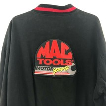 MAC Tools Racing Men's XL Brushed Cotton Black Embroidered Patch Racing ... - $19.37