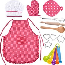 Bememo Kids Chef Set Children Cooking Play Kids Cook Costume with Utensi... - $19.62