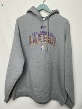 VTG REEBOK Gray HOODIE RETRO LAKERS KOBE Rare Los Angeles Spell Out - $21.48