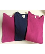 Girl's Lot Of 3 Crewcuts 100% Cotton Long Sleeve T-Shirts (12) - $16.83