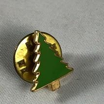Vintage Webelos Boy Scouts Metal Enamel Pin - Green Tree Evergreen Envir... - $4.75