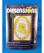 Dimensions 6025 Bootie Birth Record Crewel Embroidery Kit Linda Balogh V... - $13.85
