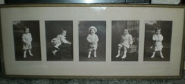 Antique F.V. Moody Photographic Framed Pictures of Toddler Girl 1915 Sal... - $74.25