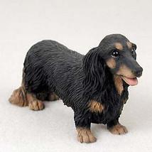 DACHSHUND (BLACK LONG HAIR) DOG Figurine Statue Hand Painted Resin Pet L... - $17.25