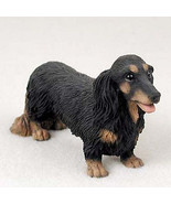 DACHSHUND (BLACK LONG HAIR) DOG Figurine Statue Hand Painted Resin Pet L... - $17.25