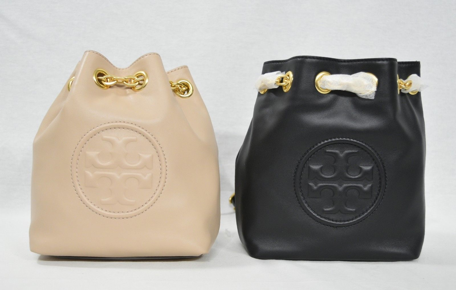 Primary image for NWT Tory Burch Fleming Mini Backpack in Leather. Black Color OR New Mink Color
