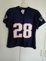 NFL PLAYERS PATRIOTS LADIES SS NAVY TEE-#28-DILLON-NWOT-S-100% POLYESTER... - $9.99