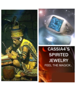 Haunted TURQUOISE RING MAYAN WIZARD AJITZ HEALER SPIRIT VESSEL MAGICK WI... - $87.77