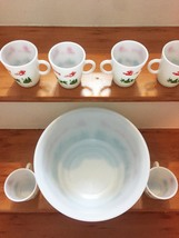 Vintage 50s Hazel Atlas Tom & Jerry/Eggnog Punchbowl Set image 4